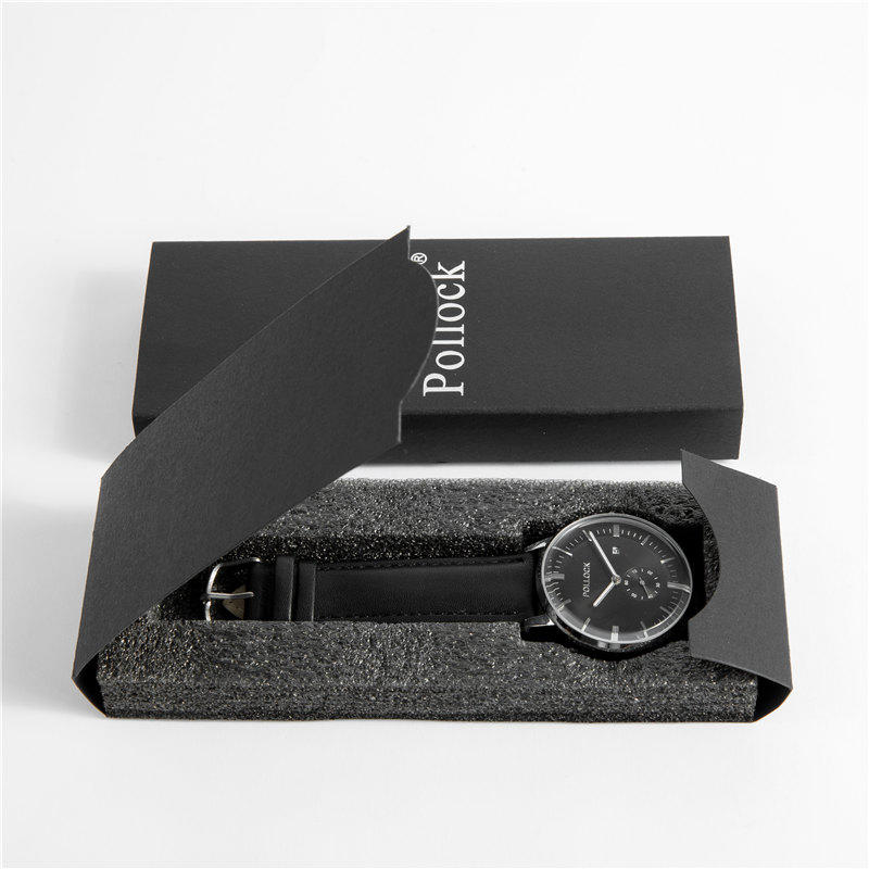 Fashion Style Black Paper Gift Watch Box with Custom Logo