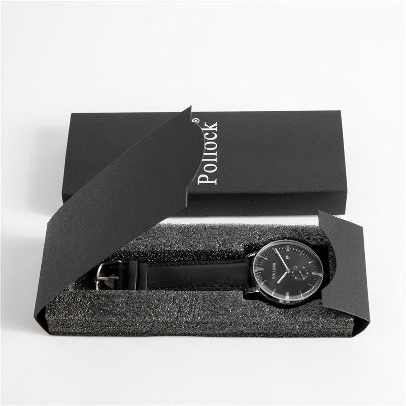 Fashion Style Black Paper Gift Watch Box with Custom Logo