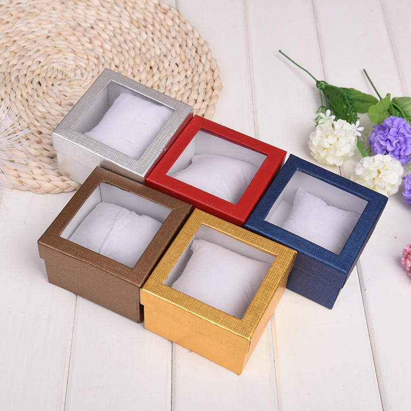 Custom Watch Display Gift Box With Clear Window