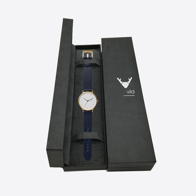 Luxury Black Cardboard Printing Packaging Paper Watch Boxes