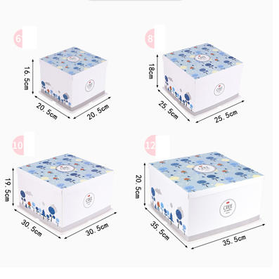 Custom Printing Tall Birthday Cake Paper Box