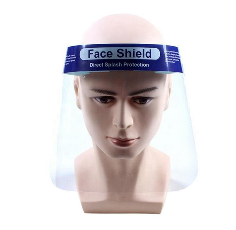 Anti-splash transparent hood head-mounted removable isolation cap full face protective mask