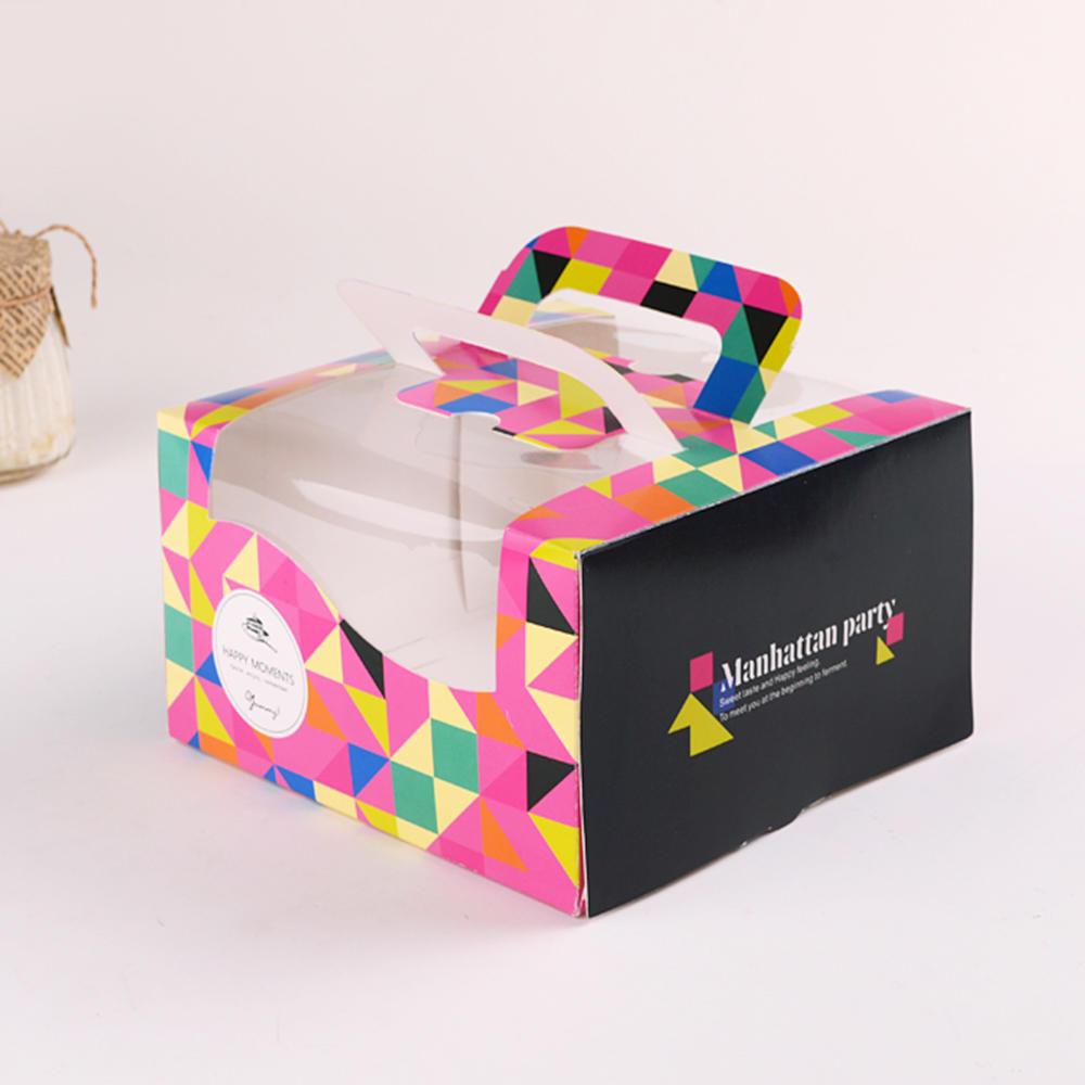 Custom Decoration Personal Birthday Cake Box With Handle