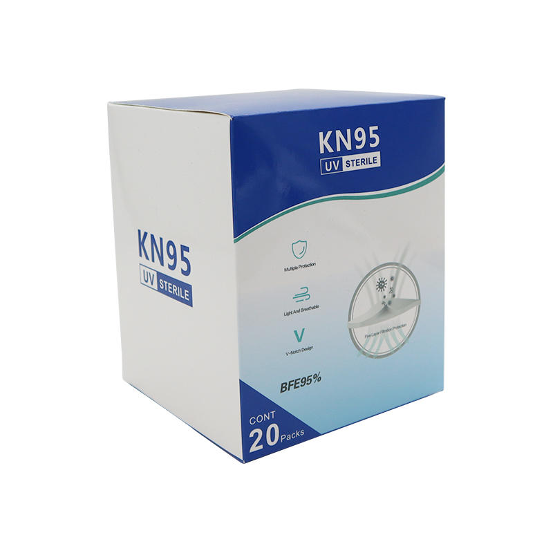 Customized Disposable Anti Fog Kn95 Mask Packaging Box