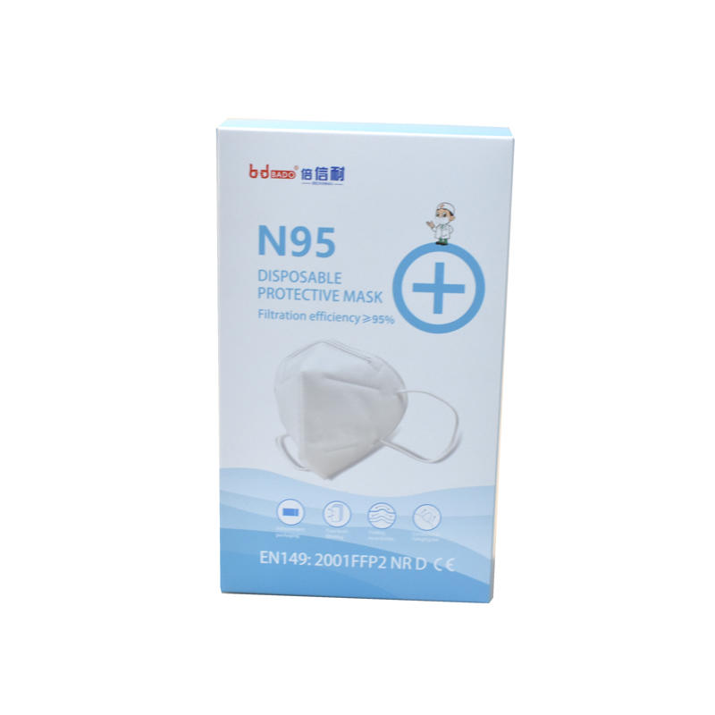In stock Free Design Custom N95 Respirator Face Mask Packaging Box