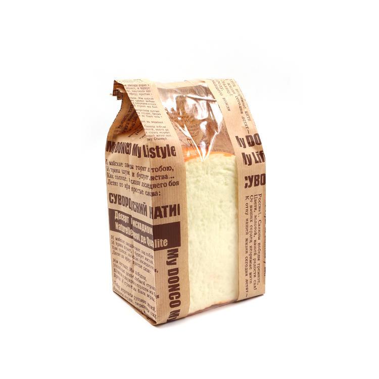 Custom Design Printed Kraft Paper Bread Bag With Window