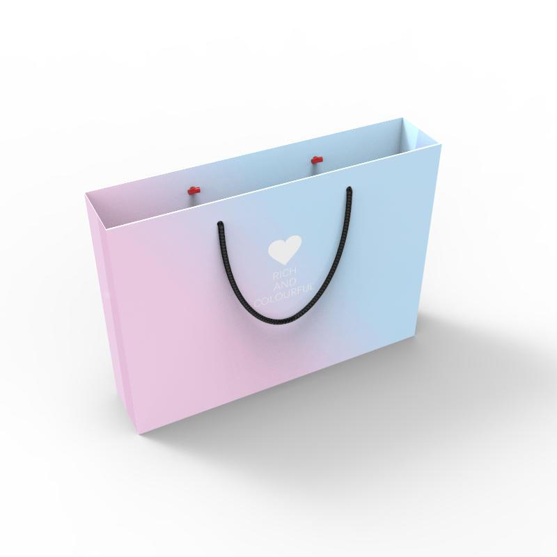 Wholesale Luxury Brand Custom Logo Printed Shopping Paper Bag