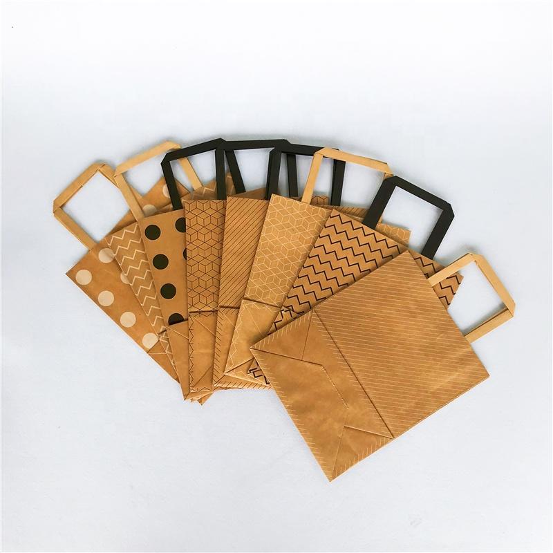 120gsm flat paper handles brown craft paper bag