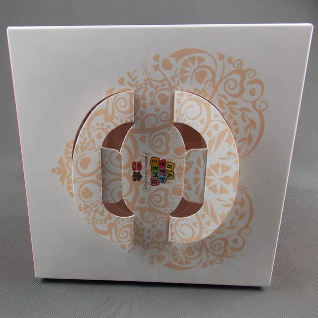 Cake box with handle custom paper box biodegradable food packaging