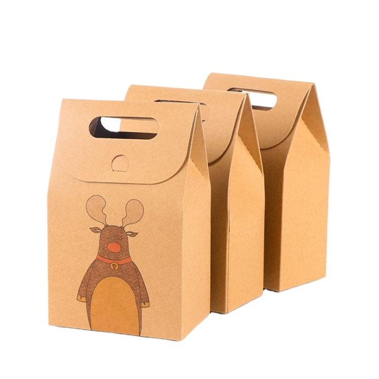 Custom 350g Brown Biodegradable Kraft Paper Bag For Food