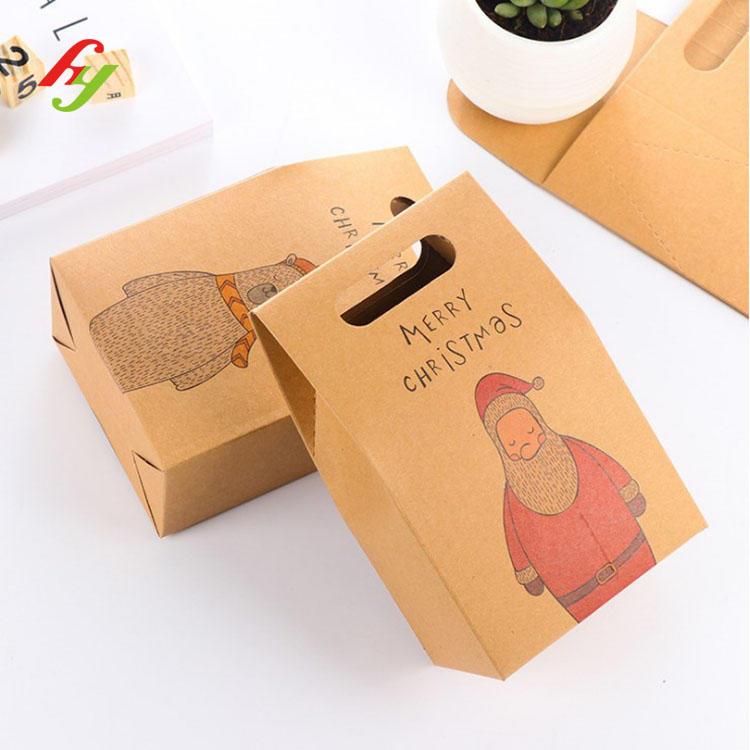Custom 350g Brown Biodegradable Kraft Paper Bag For Food