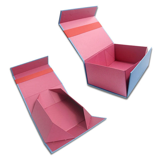 Custom logo printed cardboard paper wedding foldable packaging magnetic giftbox gift boxes for gift