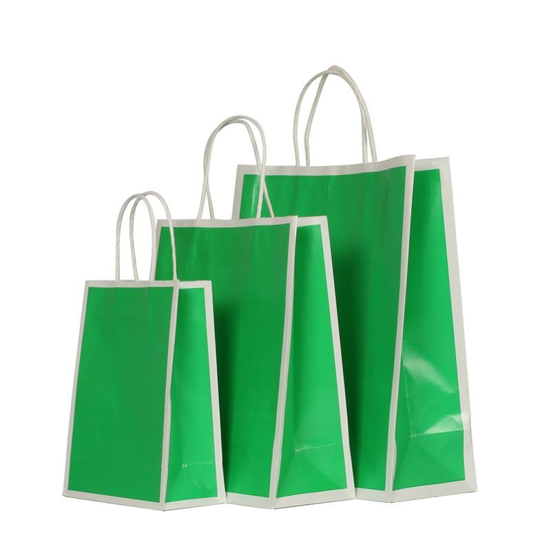 Customized Coated Paper Shopping Bag for Promotion with Glossy Varnish