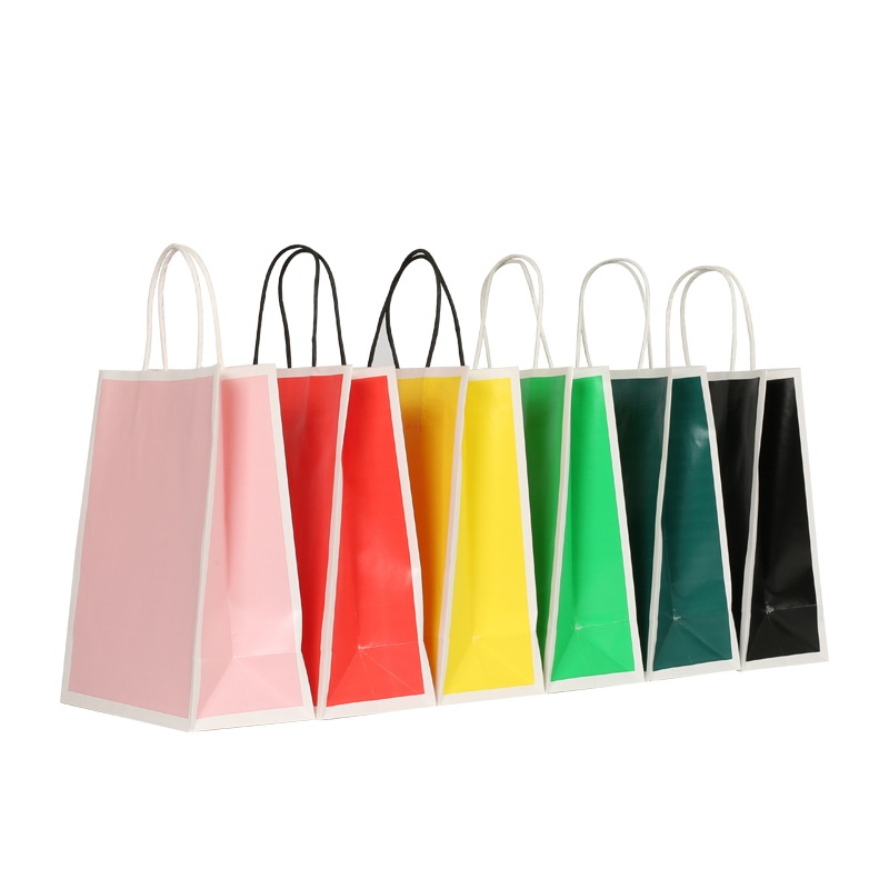 customized kraft paper gift bags with handles ziplock for business for shopping-6