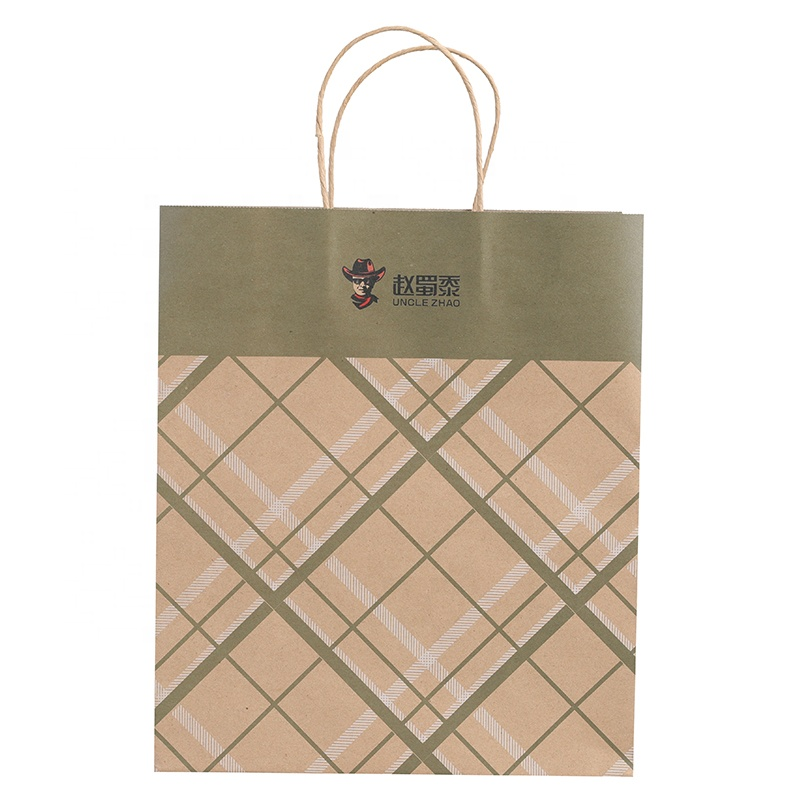 brown paper bag shop pink for business for sale-5