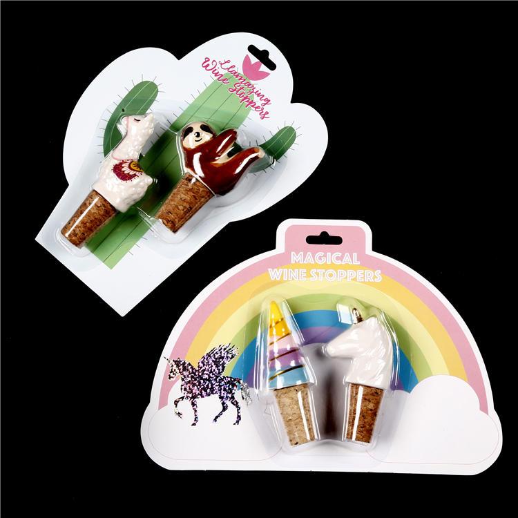 Custom plastic blister packaging clamshell card pack for wine stopper