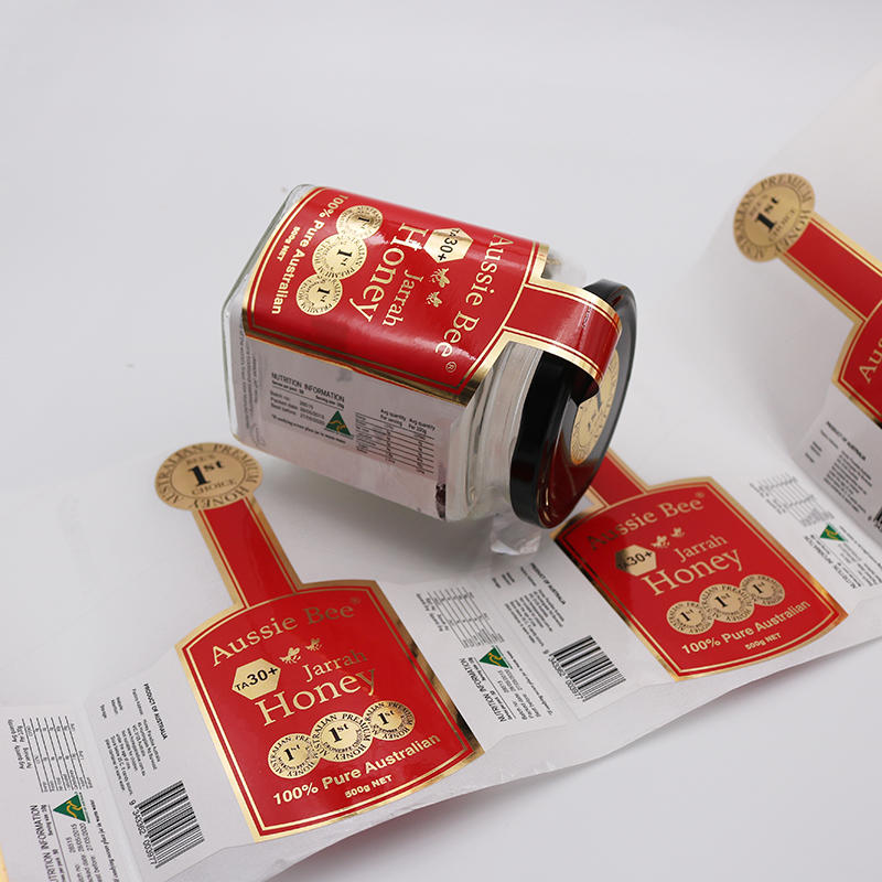 Customized food trademark stickers