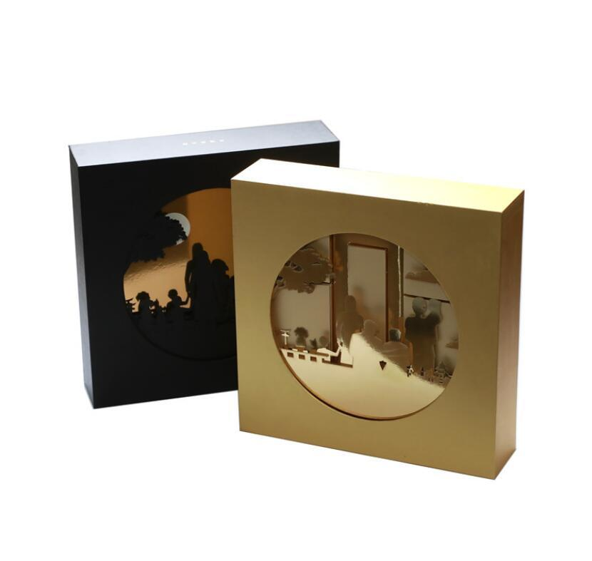 Custom New Exquisite Luxury Moon Cake Gift Paper Box Mooncake Packaging Box