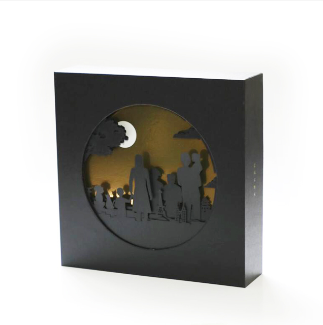 Custom New Exquisite Luxury Moon Cake Gift Paper Box Mooncake Packaging Box