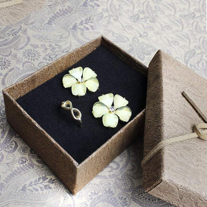 Fancy custom jewelry gift paper packaging box