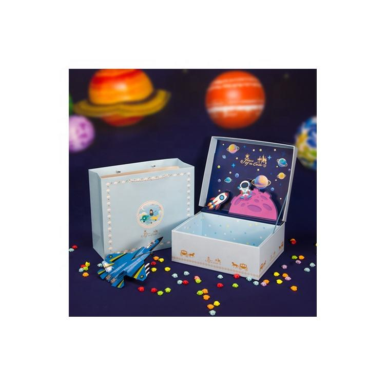 Decorative Package Children Birthday Gift Paper Boxes Packaging Magnetic Box