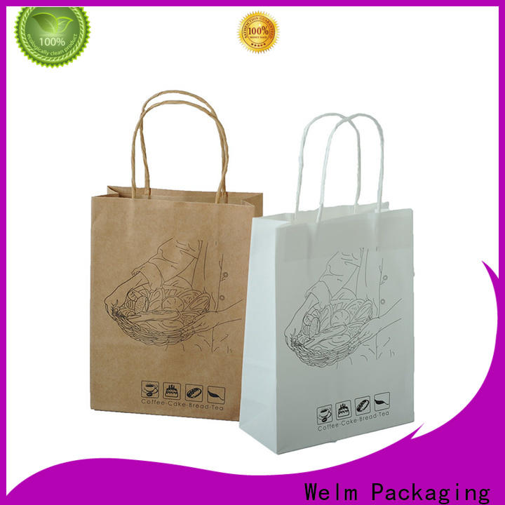 Welm ziplock plain brown paper bags suppliers for sale