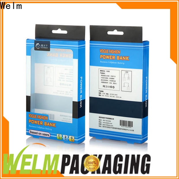 Welm electric online packaging supplies with pvc window for men