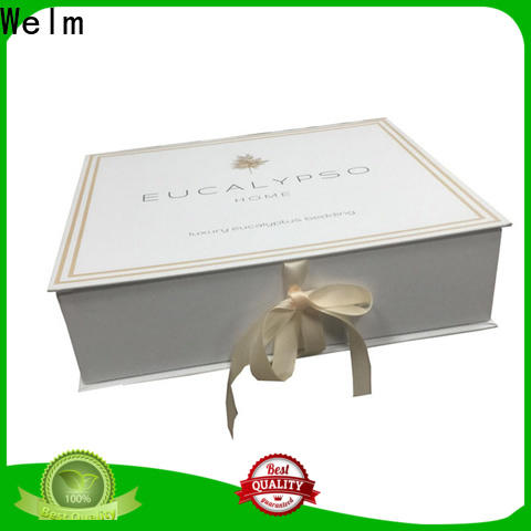 Welm packaging magnetic gift boxes with ribbon for business for gift
