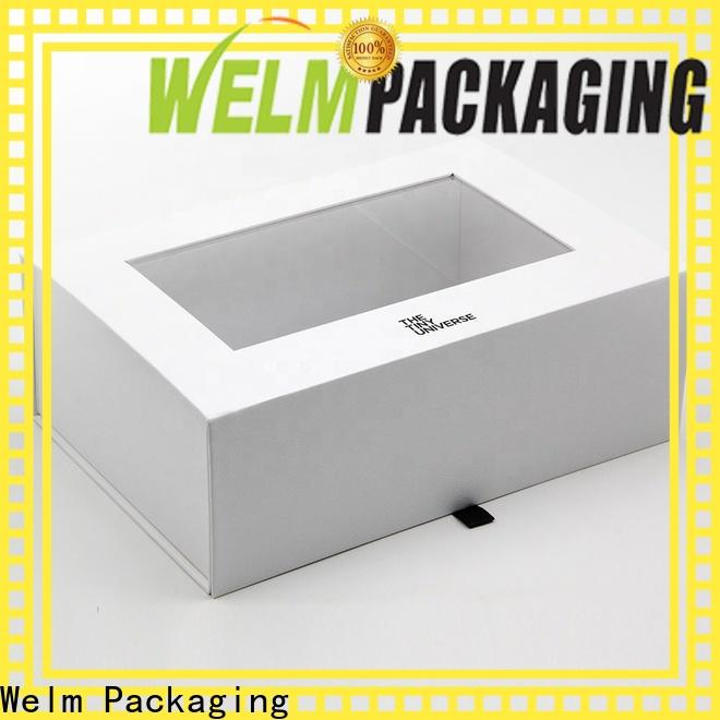Welm gift custom packaging with red vinyl sticker for food
