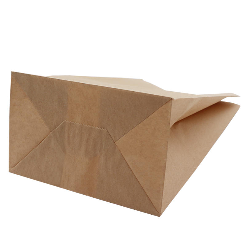 Recyclable Sos Brown Kraft Paper Bag With Your Own Logo
