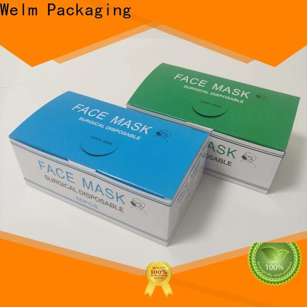 Welm wholesale medicine packaging box company for facial cosmetic