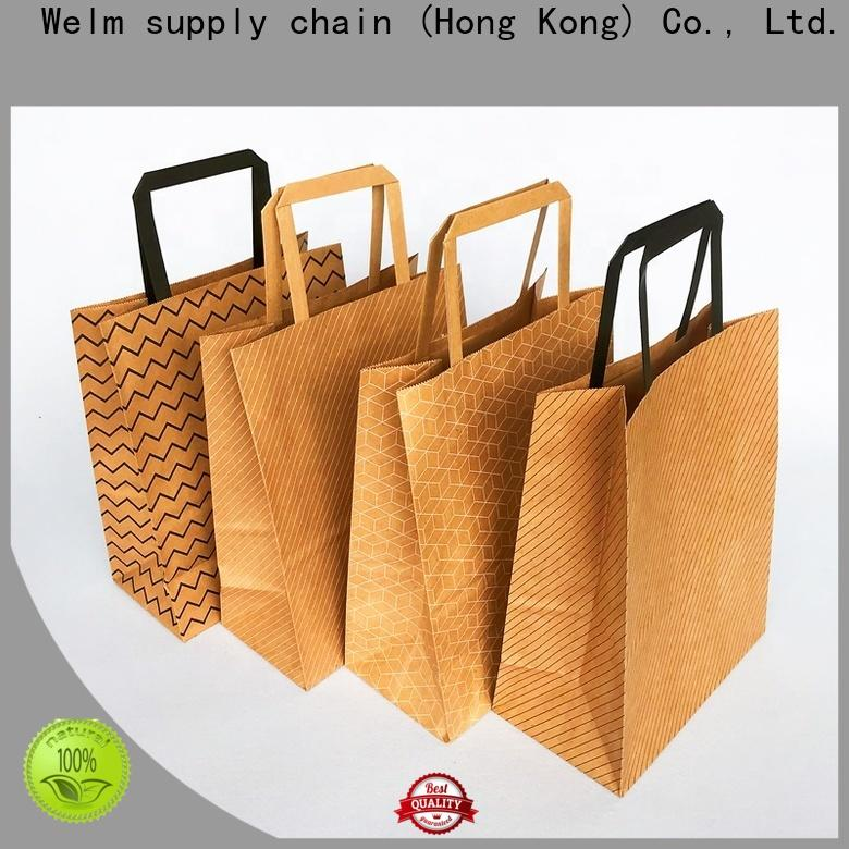 Welm dried plastic and paper bags supply for shopping