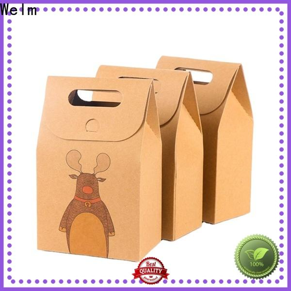 Welm kraft brown paper grocery bags supply for shopping
