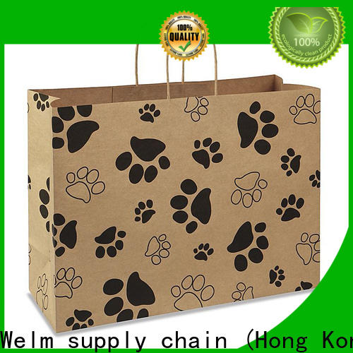 Welm greaseproof brown paper bag material for gift shopping