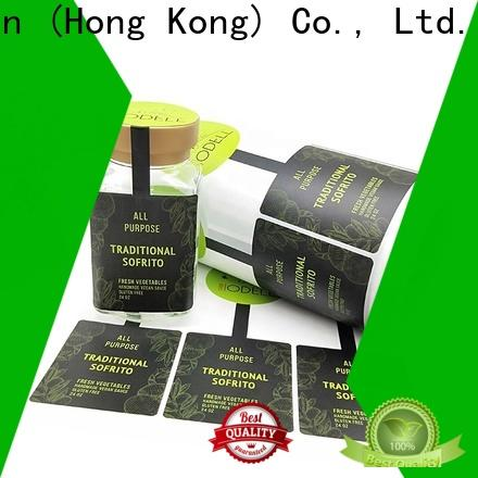 thermal custom label stickers cheap quality glossy laminated label for bottle