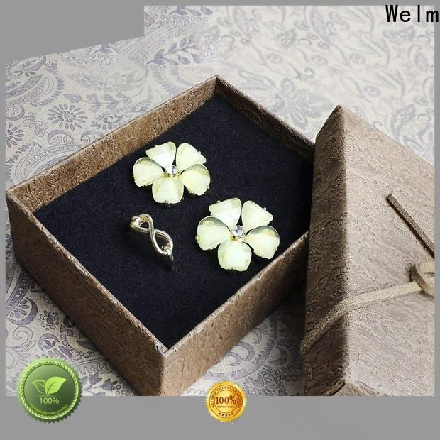 Welm fashion tall black jewelry box for business for food