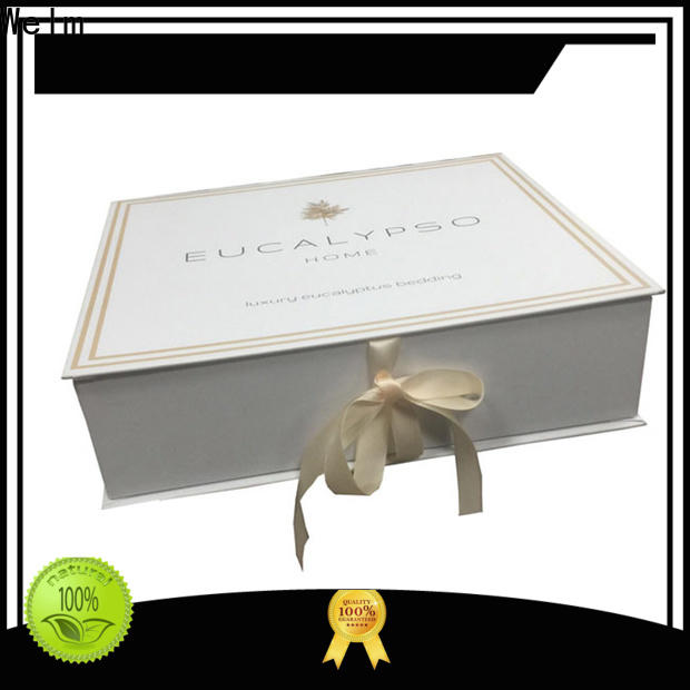 high-quality gift box with ribbon closure recycle windows for sale