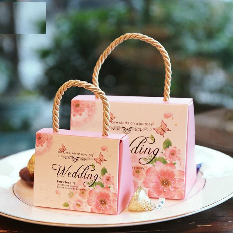 Custom Candy Box Wedding Box for guests Party Favors Bags