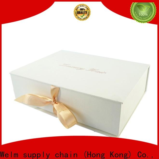 Welm perfume gift box with magnetic ribbon for children toys