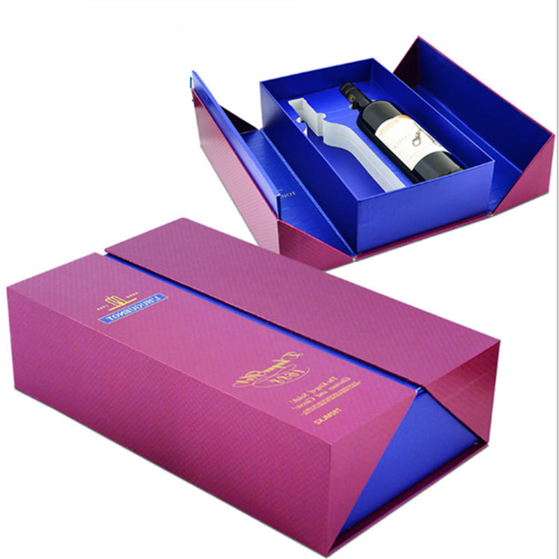 Eco-friendly Biodegradable Custom Grape Wine And Bottle Paper Boxes