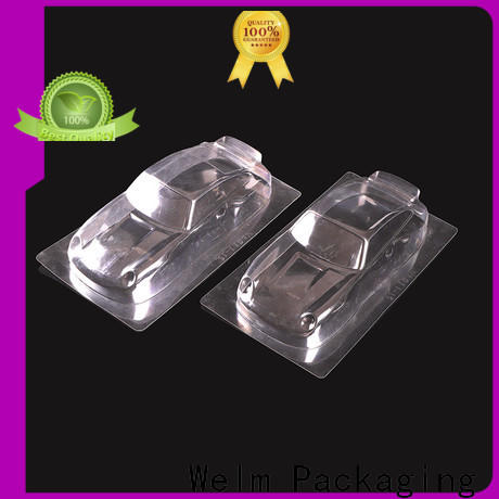 Welm plastic retail packaging tray for cosmetics and toy