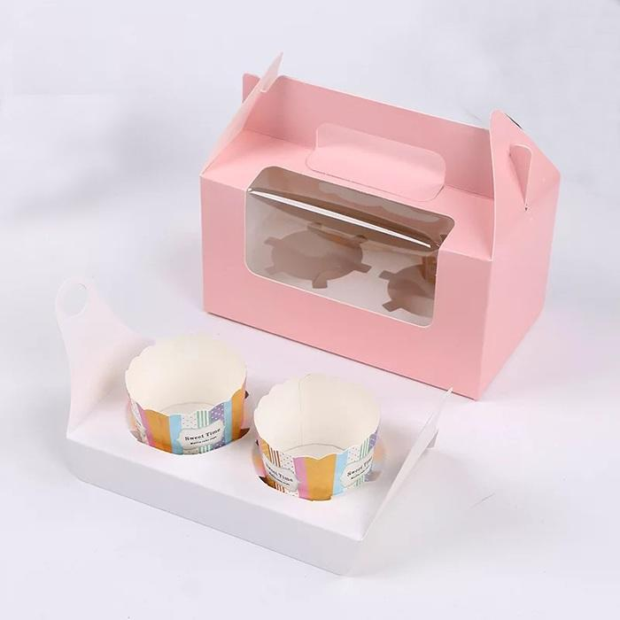 Custom logo biodegradable cake box gift box for cake takeaway food paper box