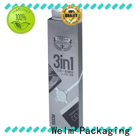 Welm cable types laptop packaging box factory for home