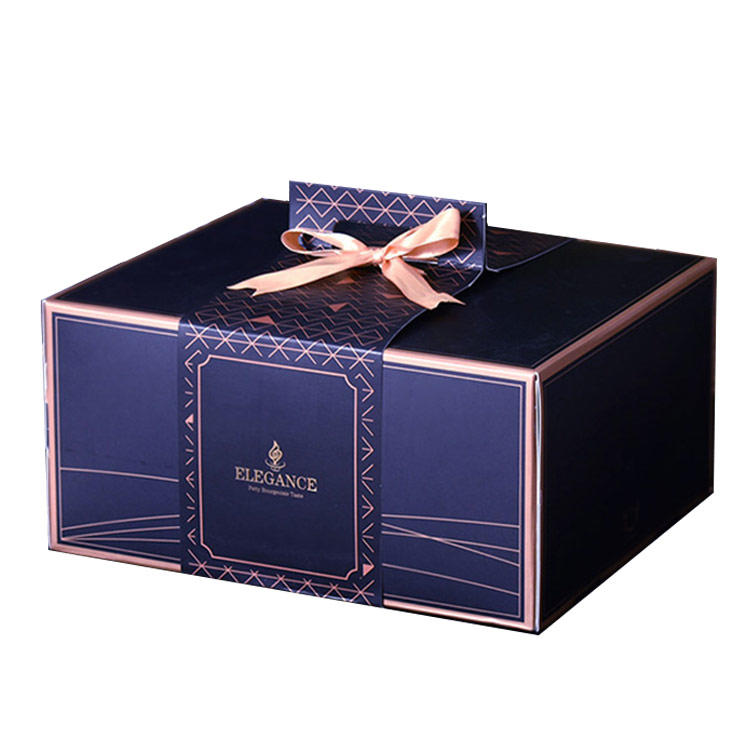 Custom 10 Inch Square Big Cakebox Paper Cardboard Packaging Birthday Cake Box