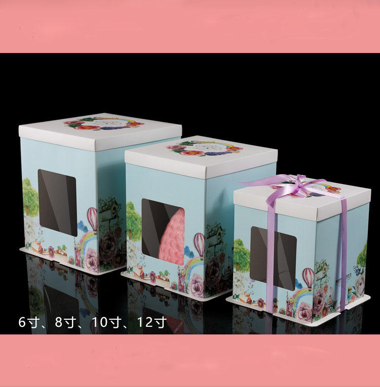 Customized Pastry Box Cake Plastic Food Packaging Dessert, Fancy Paper Cake Box