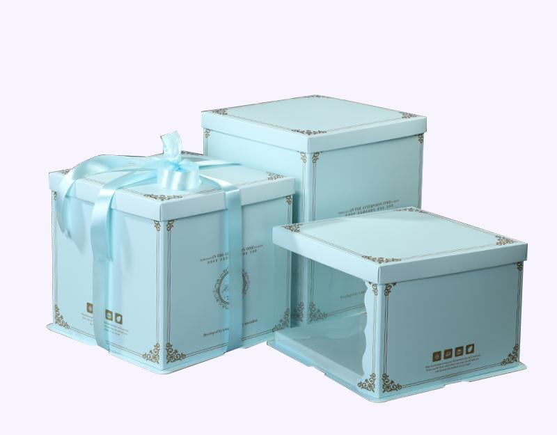 Luxury Transparent Packaging Boxes Clear PVC Cake Box