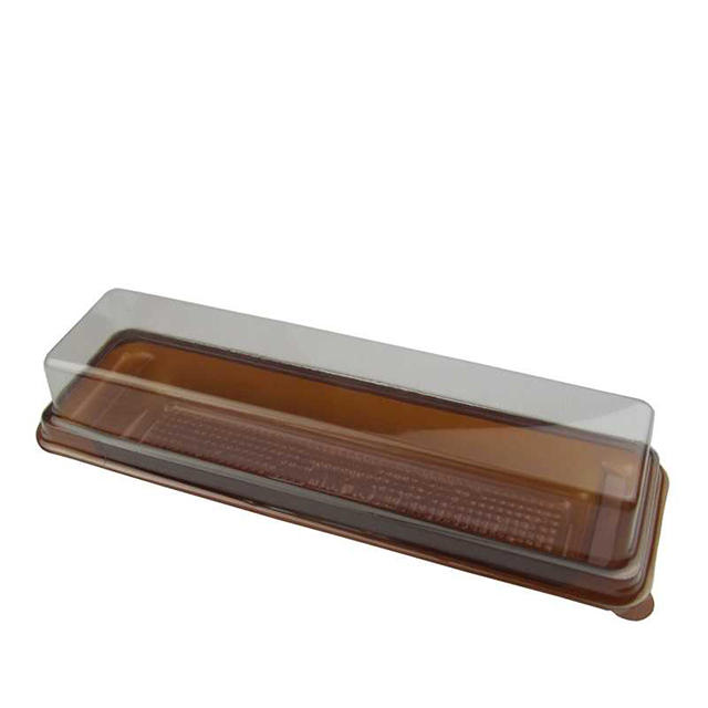 Custom High Quality PP / PET Material Plastic Cake Slice Box Packaging