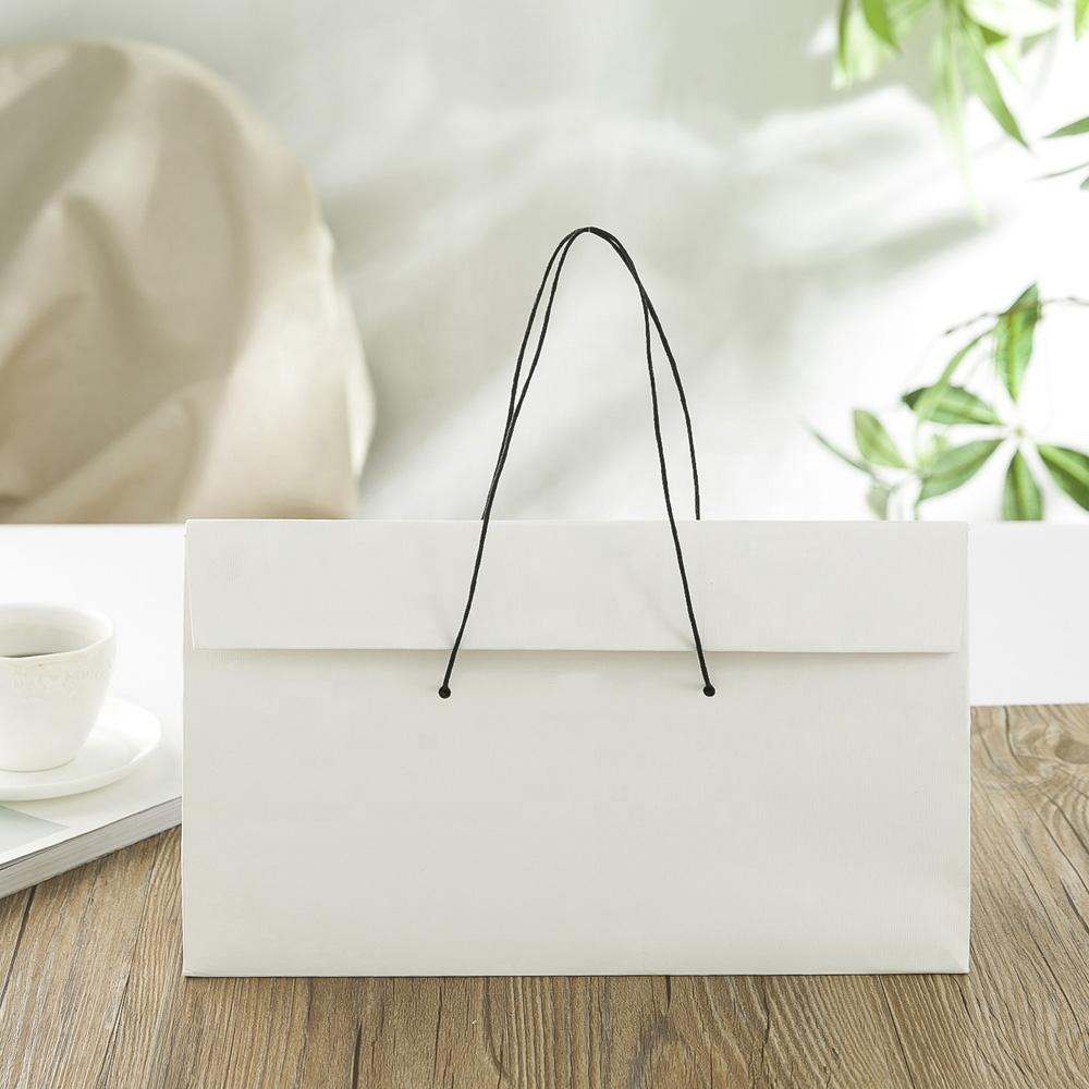 Custom Printed Logo White Brown Kraft Gift Craft Shopping Paper Bag
