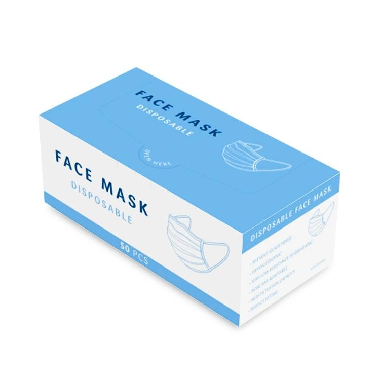 Custom  Face Masks Box Disposable Medical Mask Box