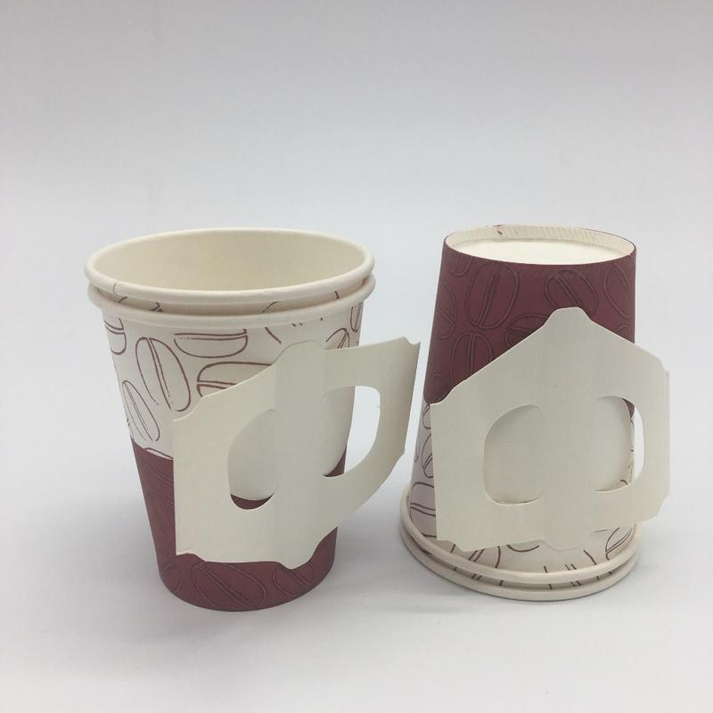 Eco friendly paper cup with handle single use
